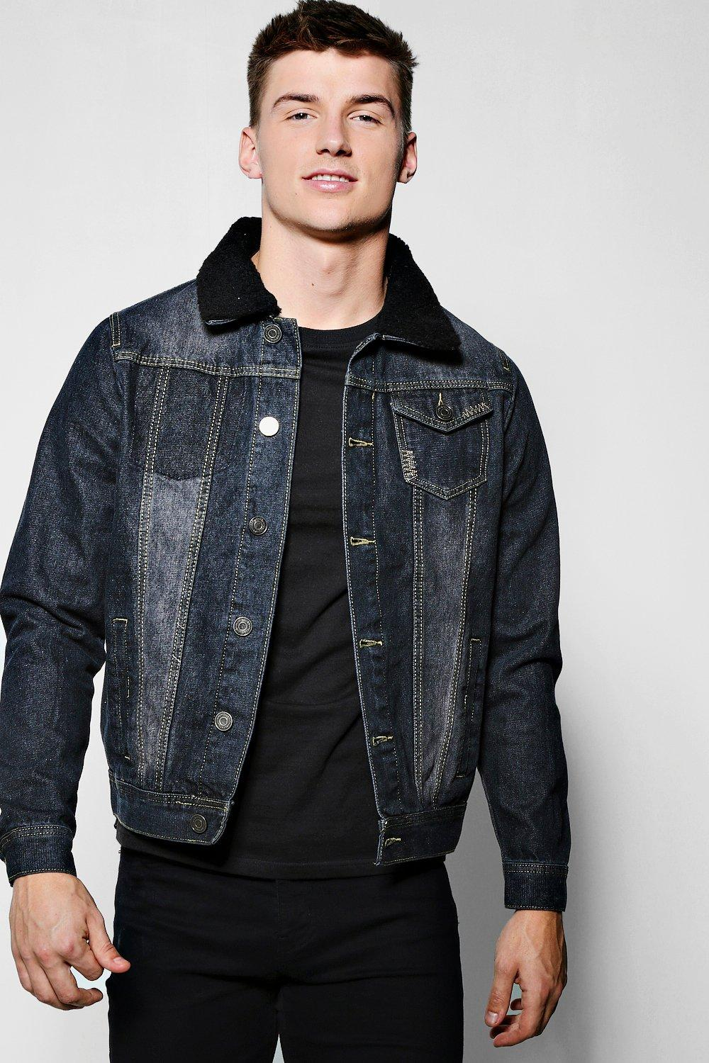 Quincy Denim Jacket With Borg Collar
