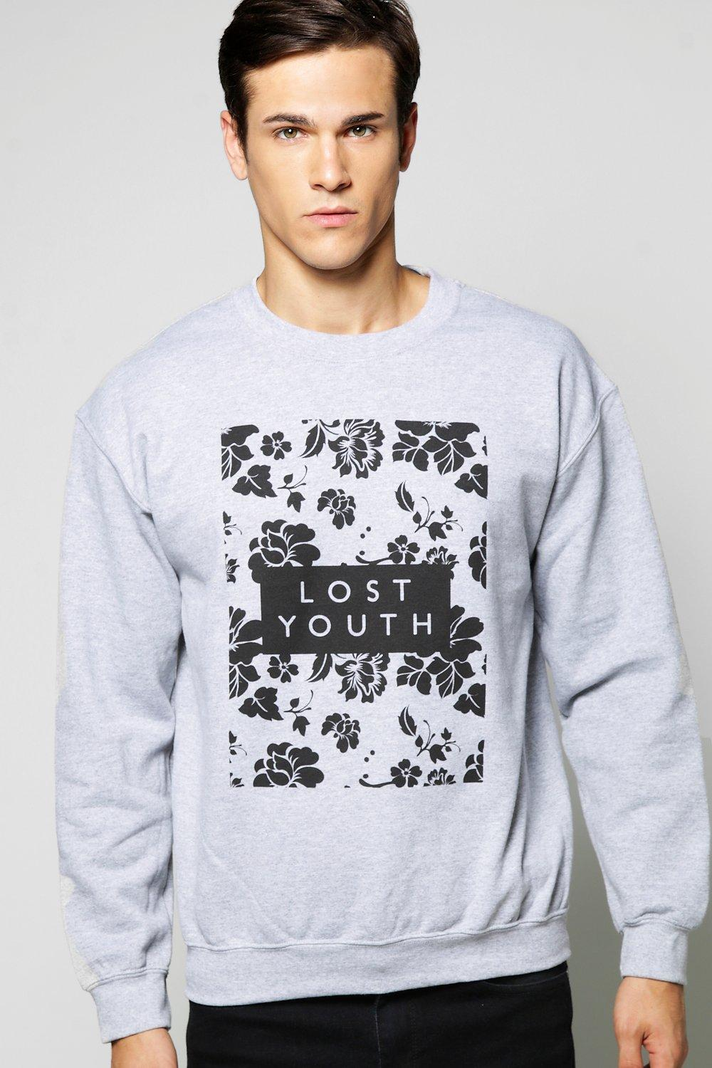 Lost Youth Floral Crew Neck Sweater