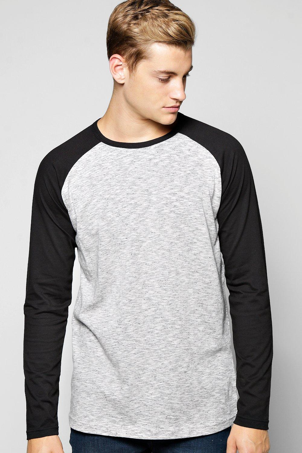 Long Sleeve Space Dye Raglan T Shirt