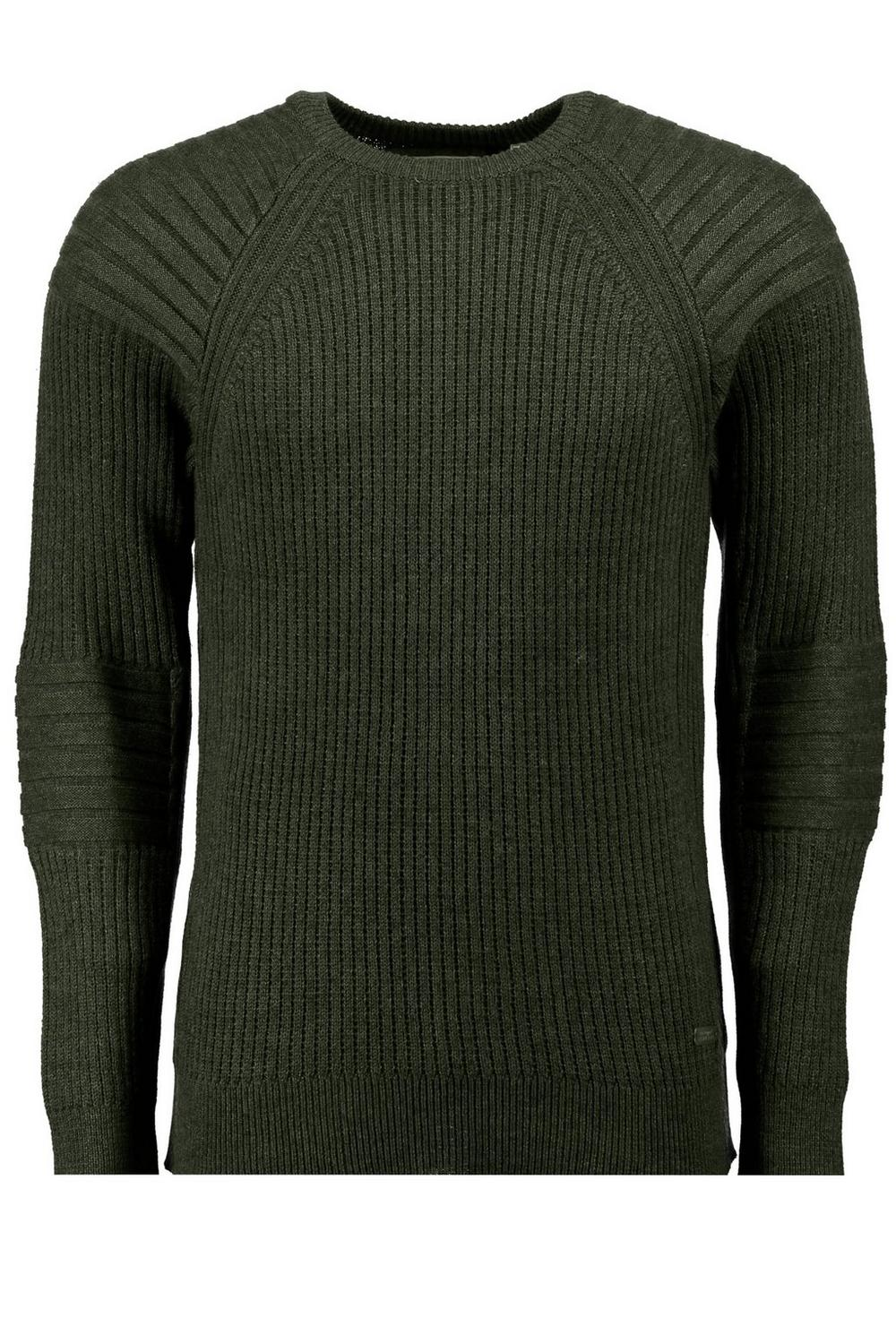 Heavy Fisherman Rib Crew Neck Sweater