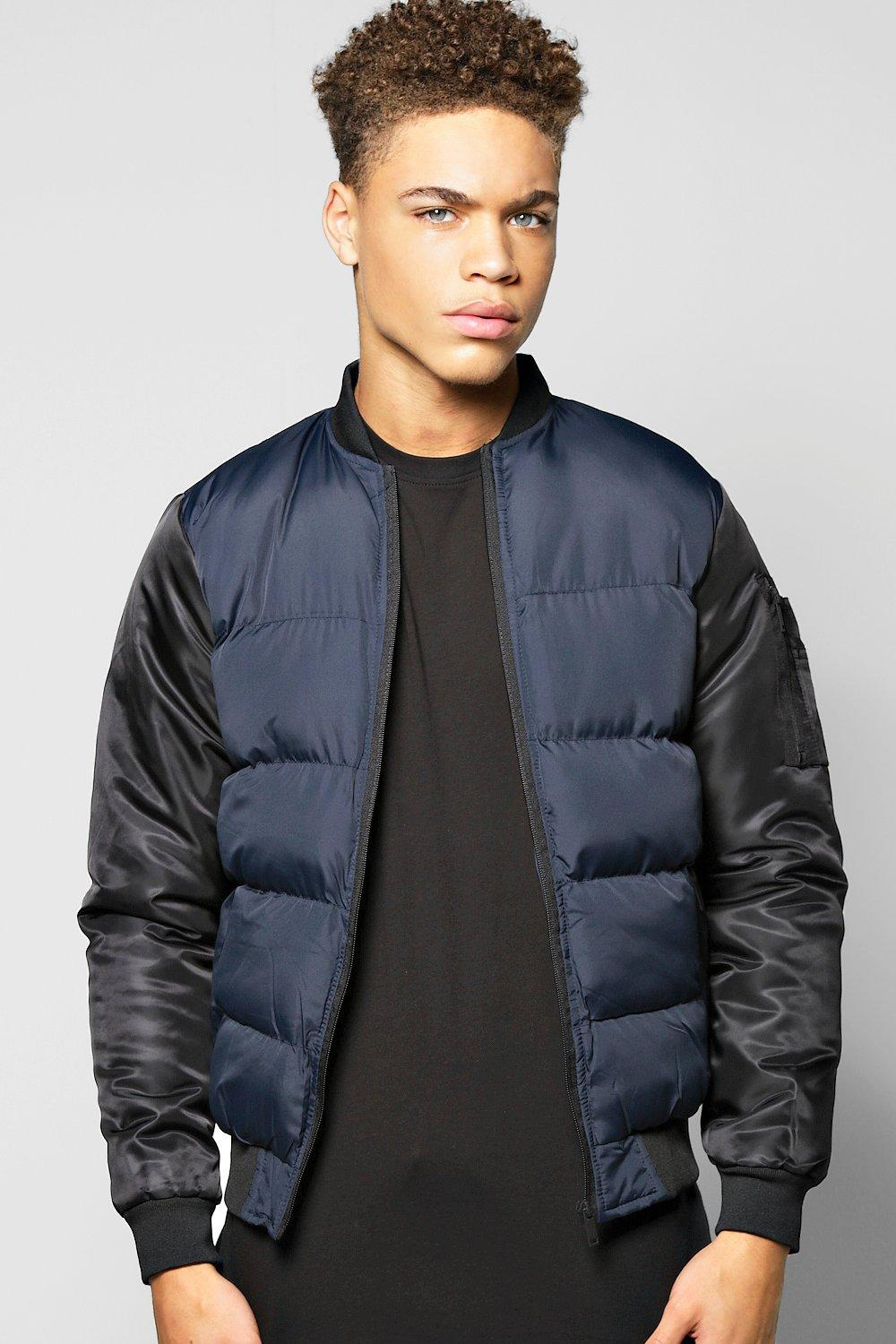 Nylon Padded Bomber Jacket