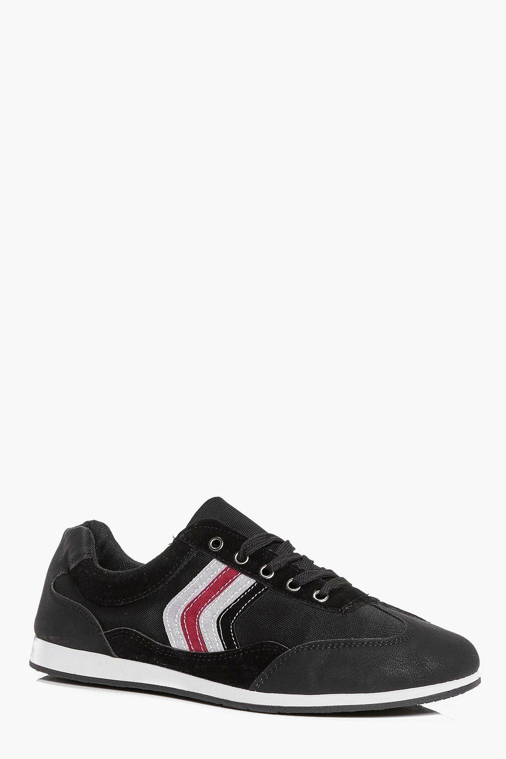 Retro Stripe Lace Up Trainers