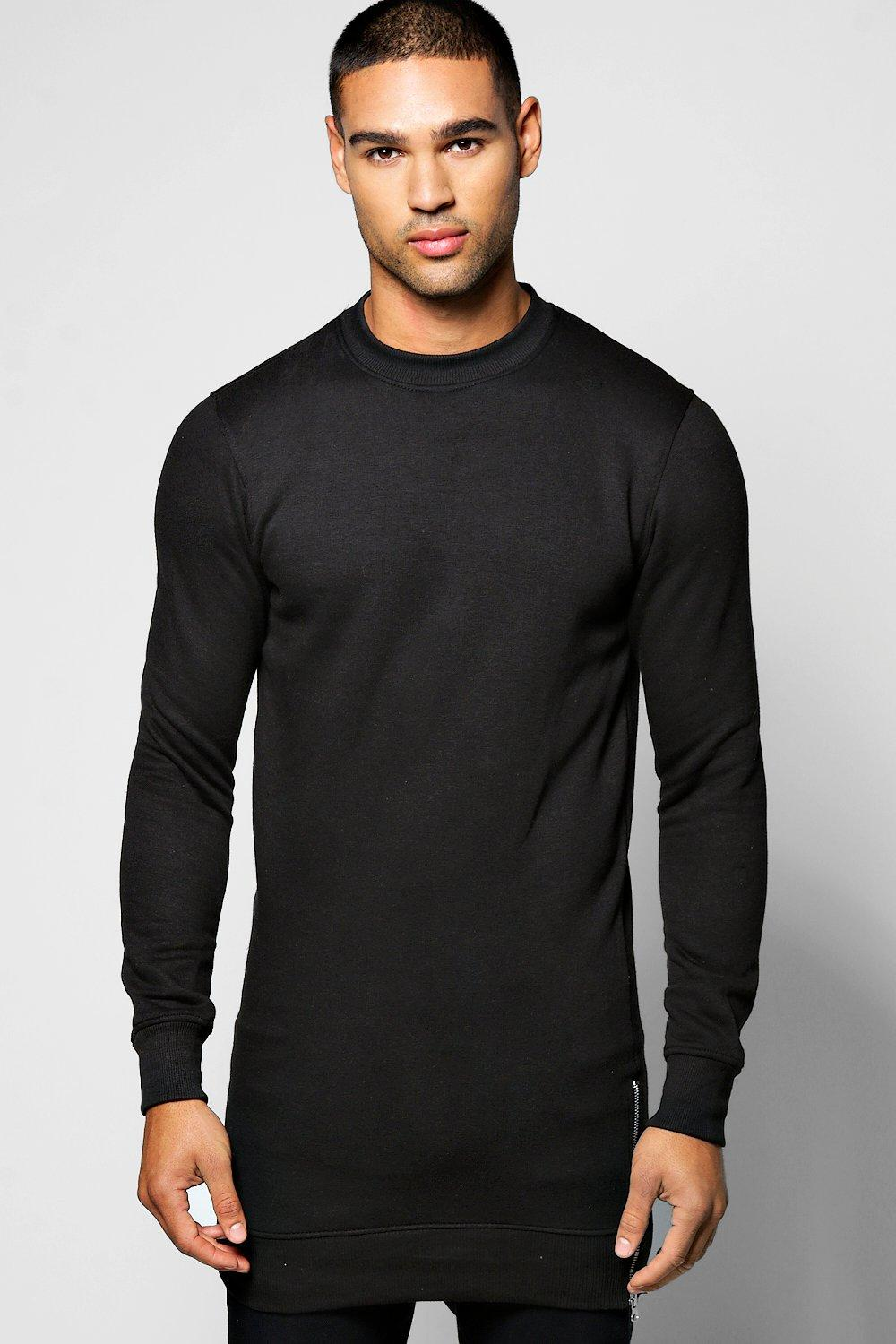 Longline Sweater With Side Zips