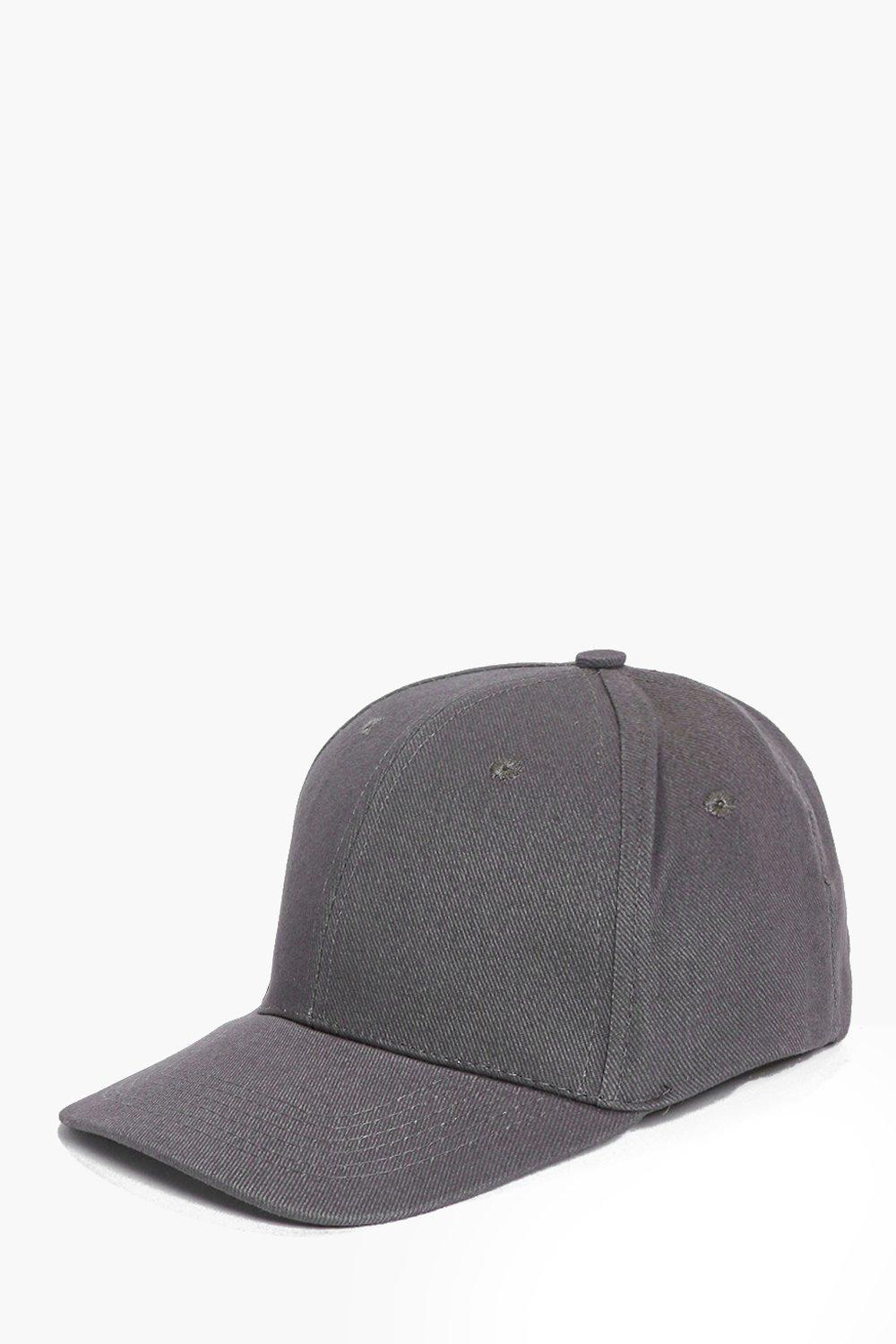 Slate Grey Plain Baseball Cap