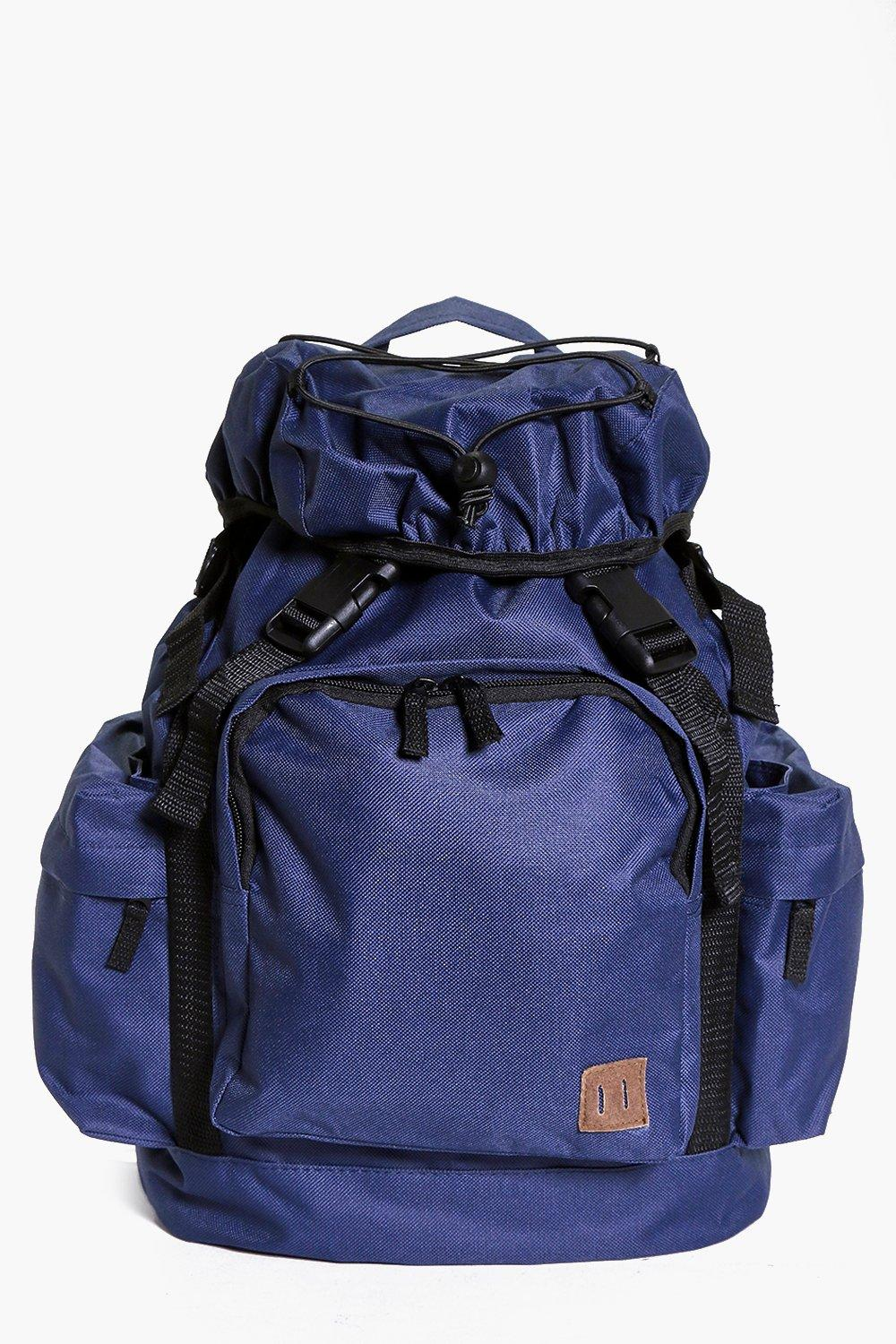 Multi Pocket Double Strap Rucksack