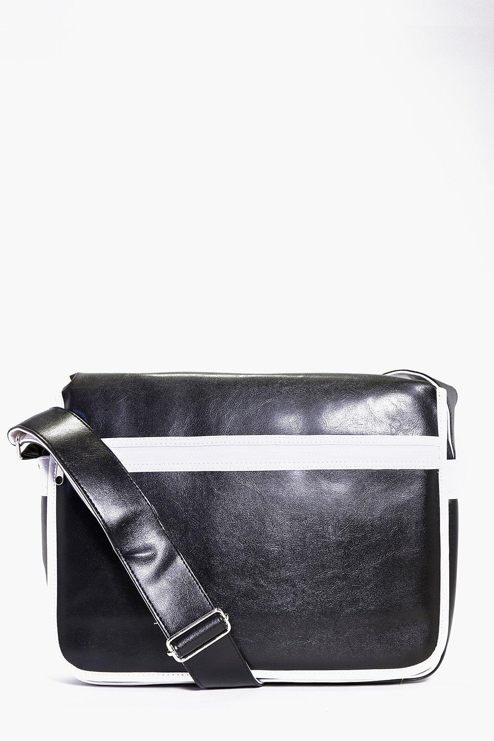 Monochrome PU Cross Body Bag