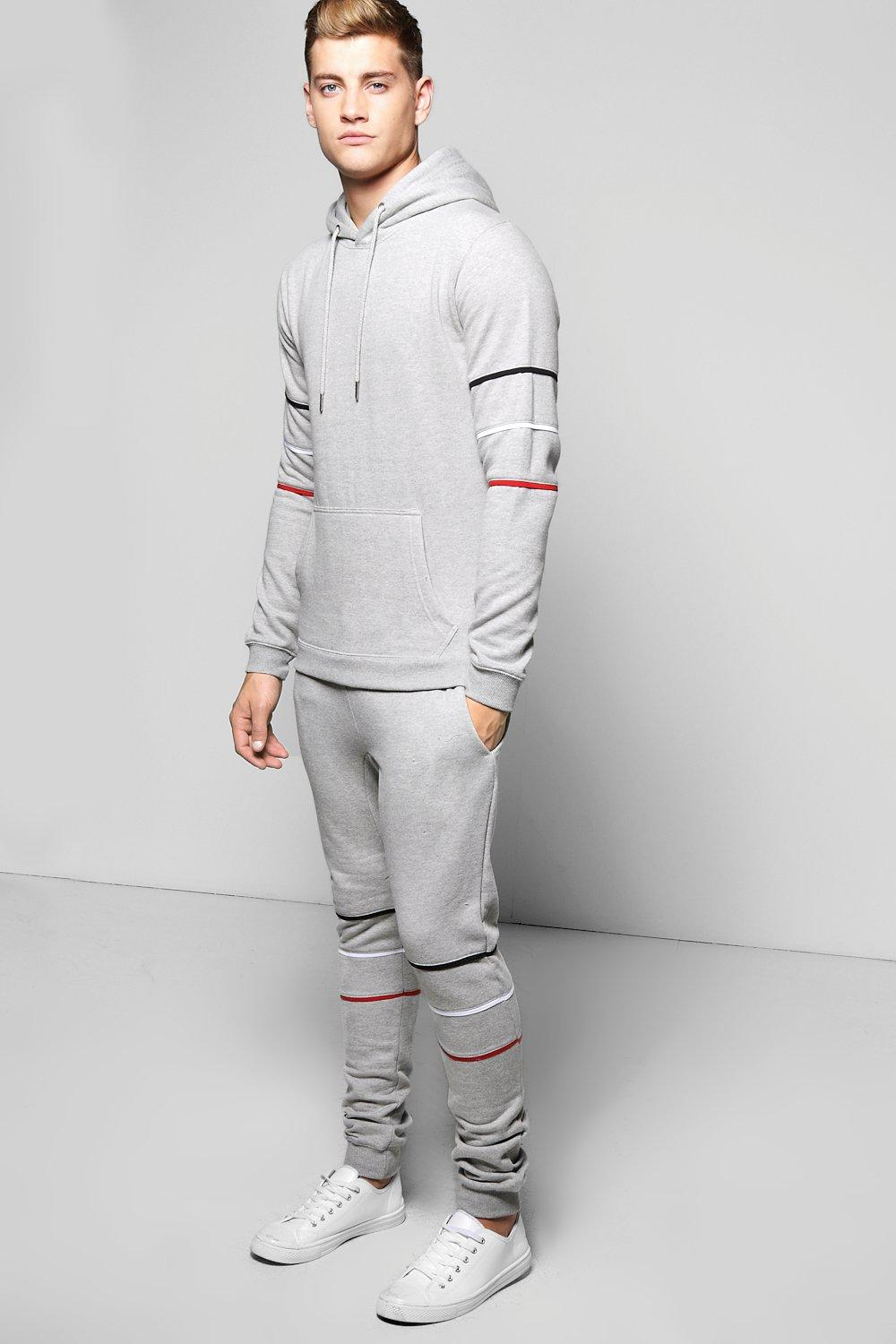 Skinny Fit Tracksuit with Piping