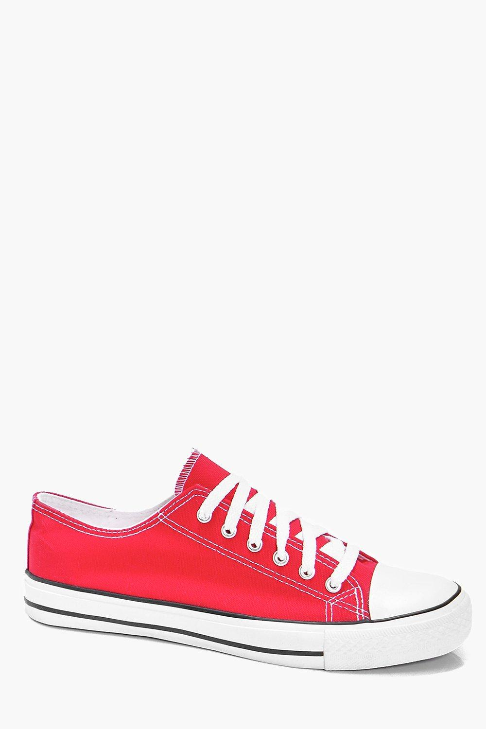 Red Canvas Plimsolls