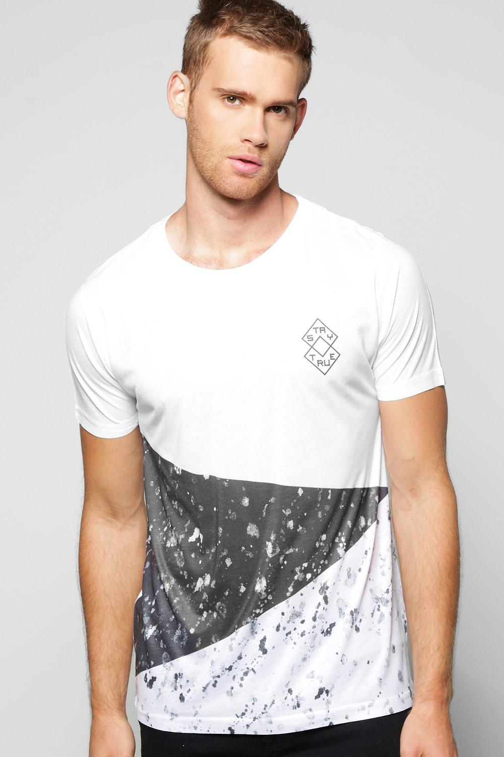 Spliced Splatter Sublimation T Shirt