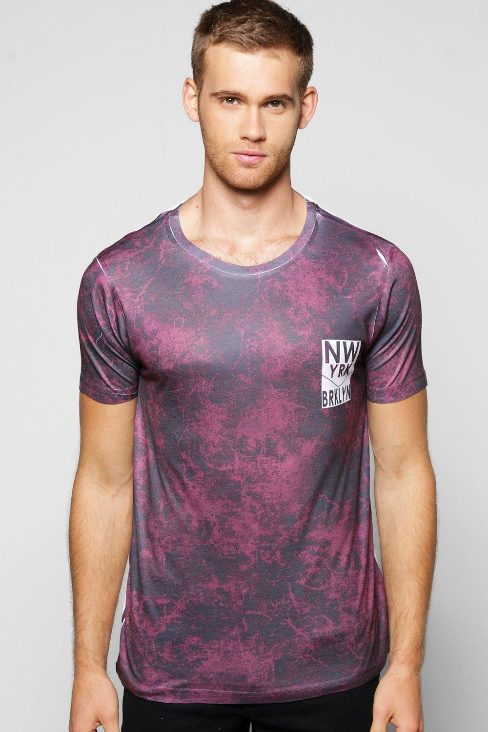 NYC Brooklyn Marble Sublimation T Shirt