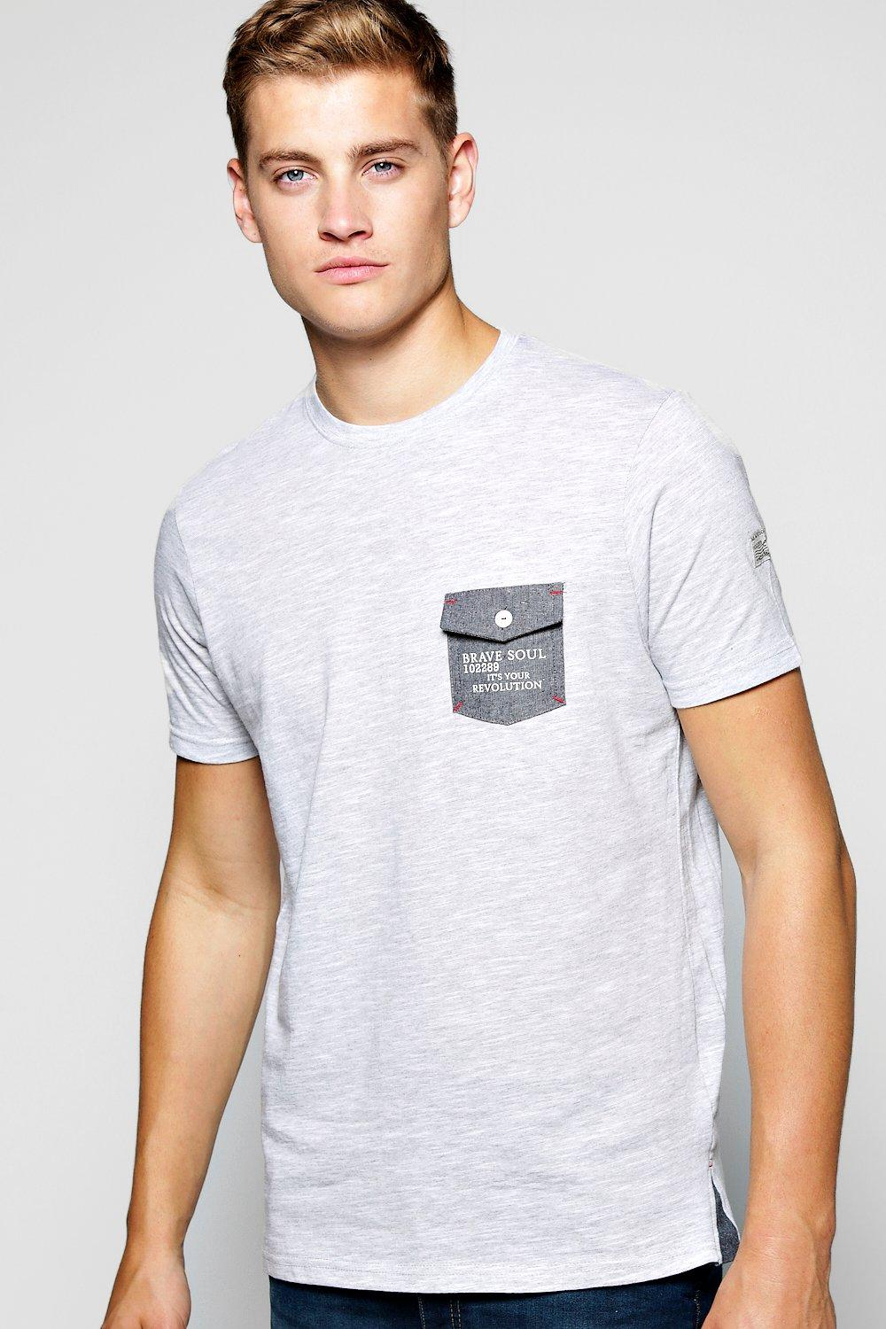 Fine Stripe Pocket T Shirt