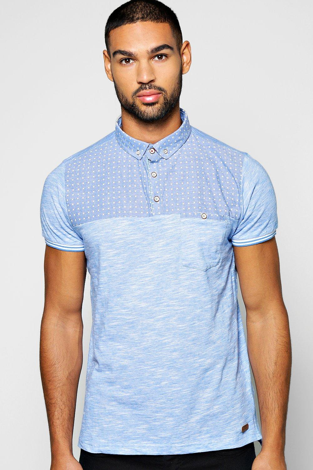 Chambray Yoke Space Polo