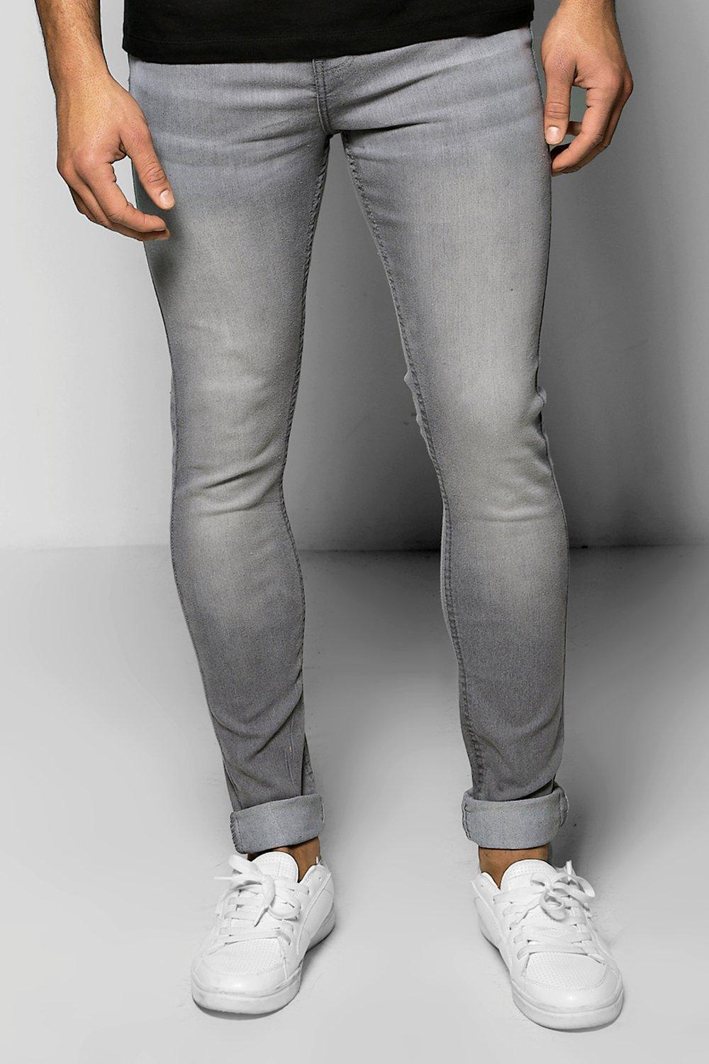 Grey Spray On Skinny Jeans
