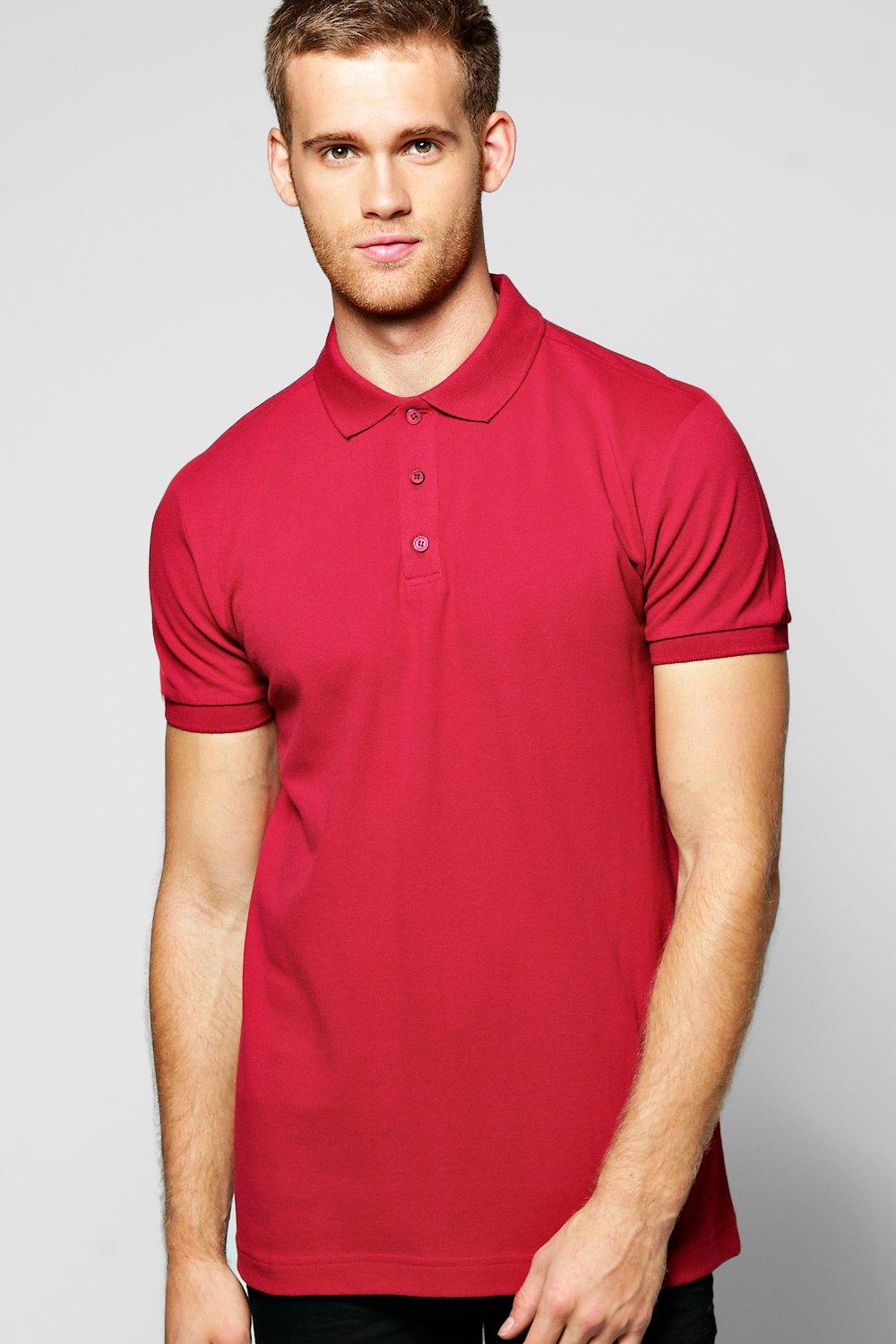 Cotton Pique Polo With Tipped Collar