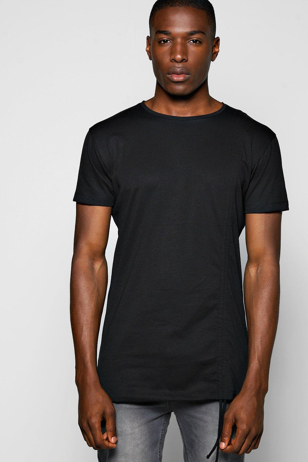 Skater Fit Rouched Panel T Shirt