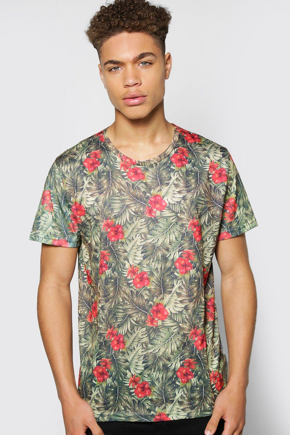All Colour Palm Print T Shirt