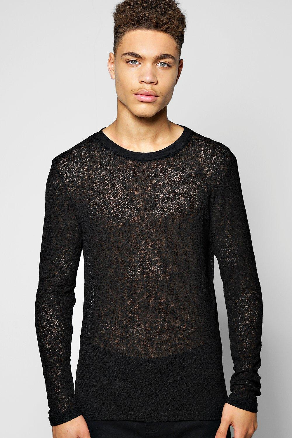 Open Stitch Lightweight Crew Jumper