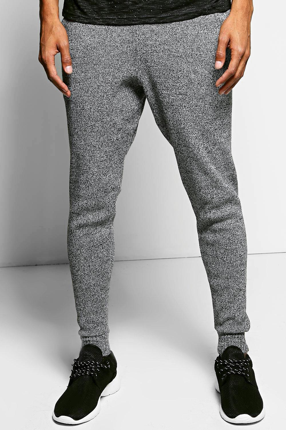 Mixed Yarn Knitted Tracksuit Bottoms