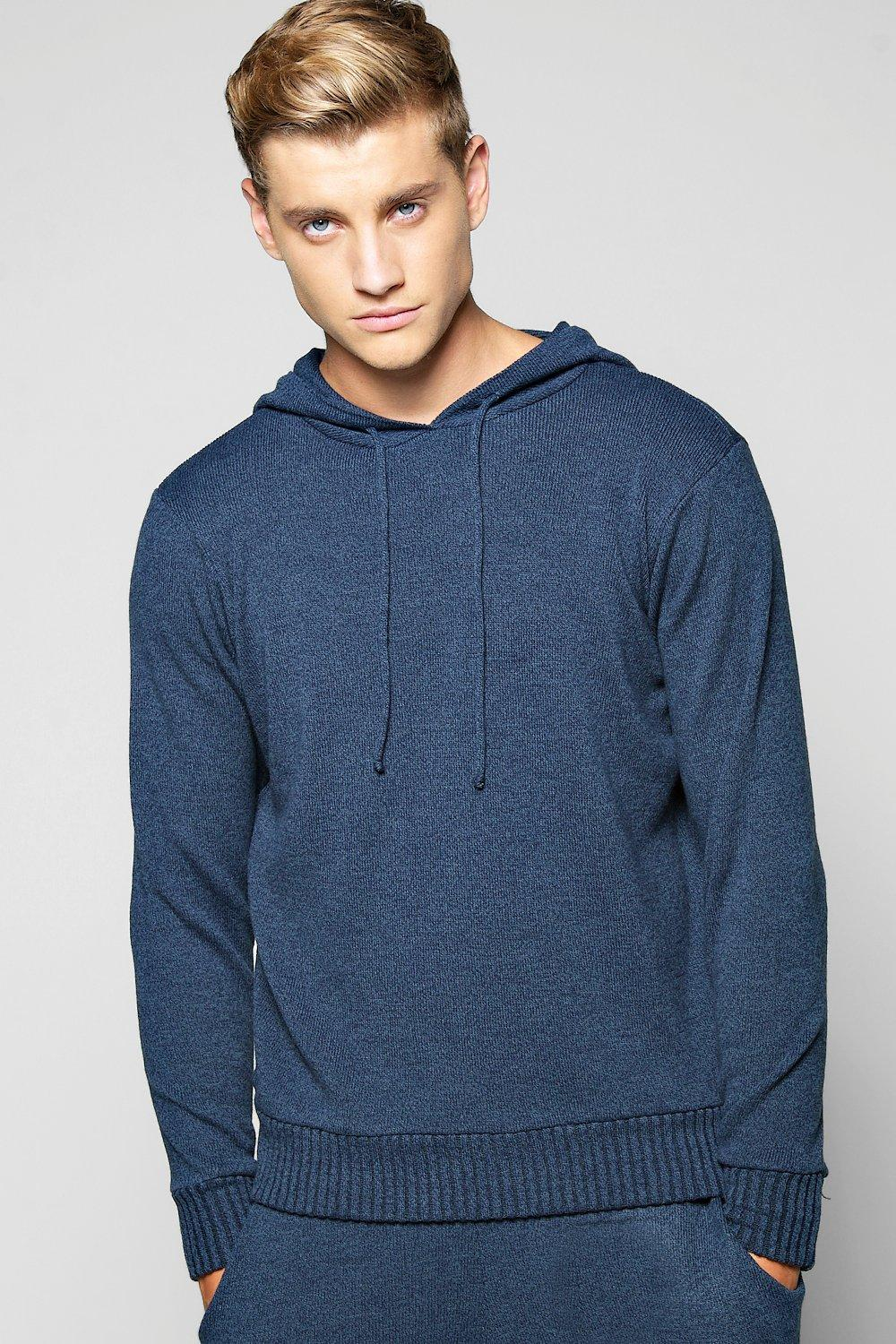 Mixed Yarn Hooded Tracksuit Top