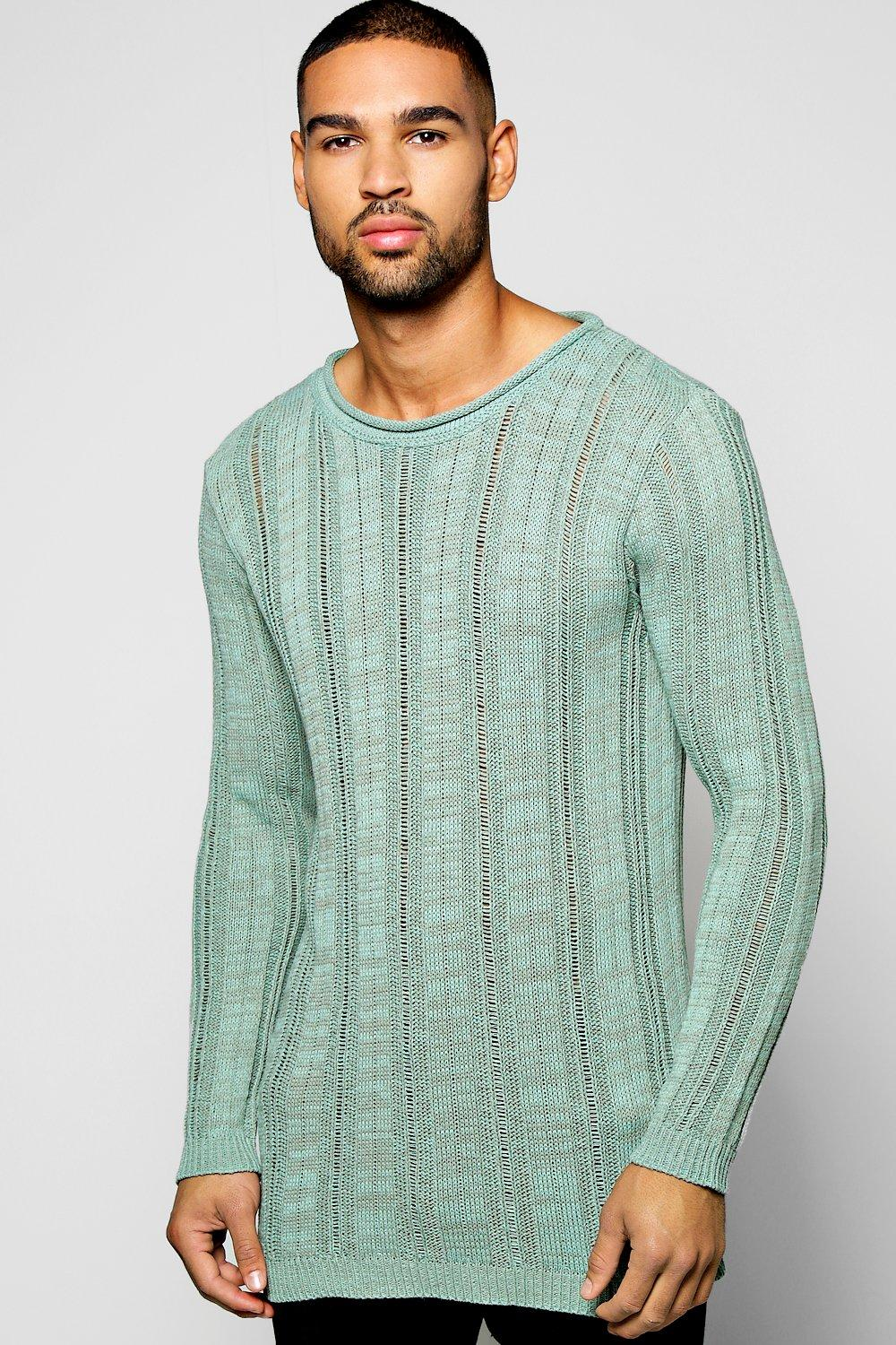 Longline Ladder Stitch Jumper