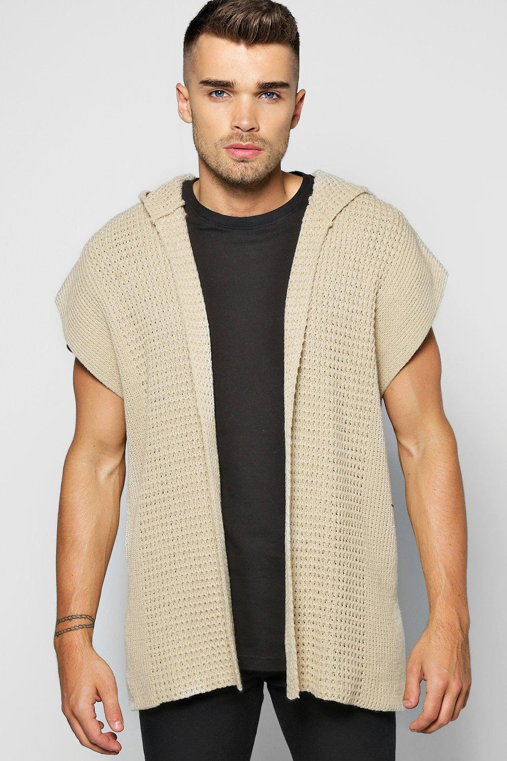 Hooded Cap Sleeve Festival Cardigan