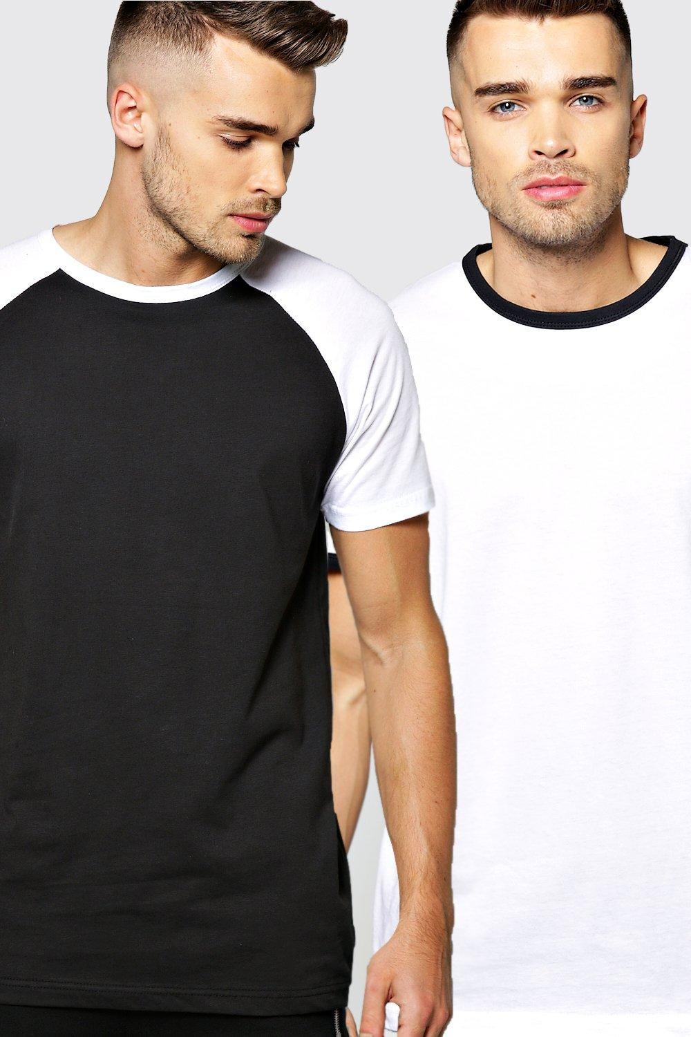 2 Pack Ringer And Raglan T Shirt Pack