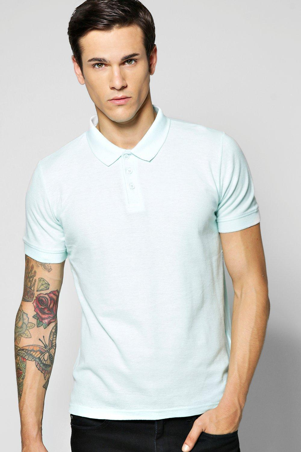 Basic Slim Fit Cotton Pique Polo