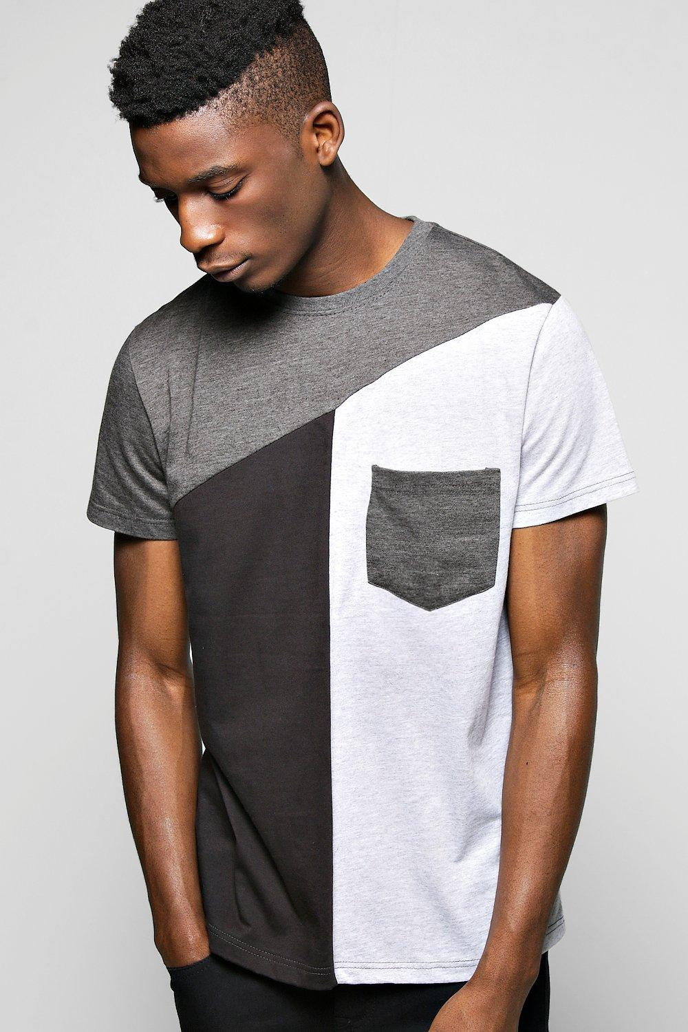 Spliced Pocket T Shirt