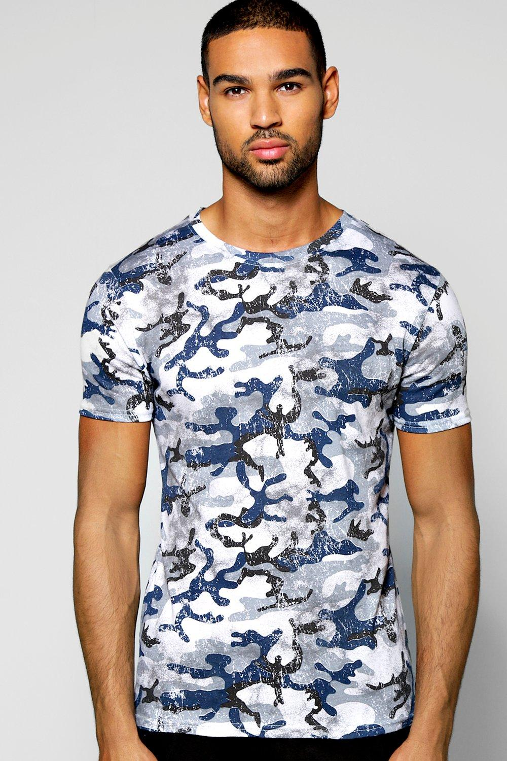 Muscle Fit Camo Stretch T Shirt