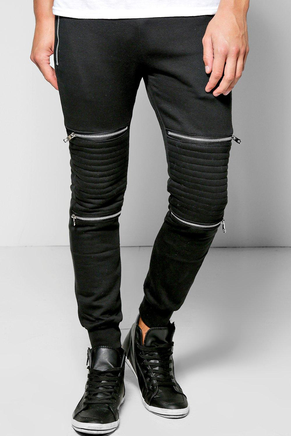 Skinny Fit Biker Jogger With Zip Detail
