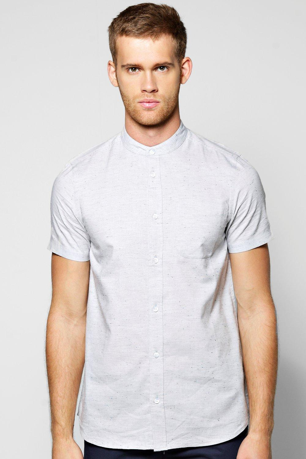 Short Sleeve Grandad Shirt