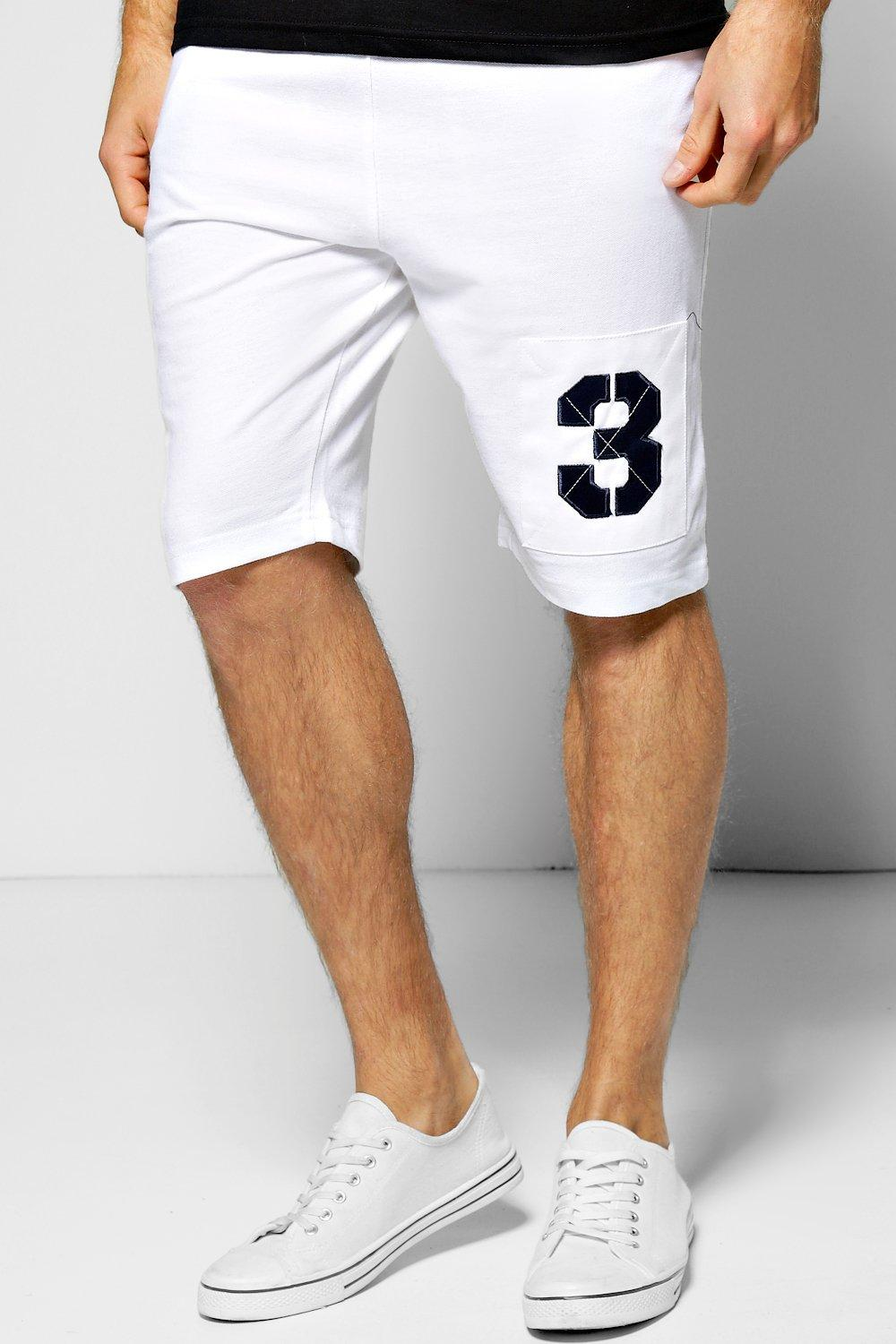 Cotton Pique Shorts With Embroidered Number