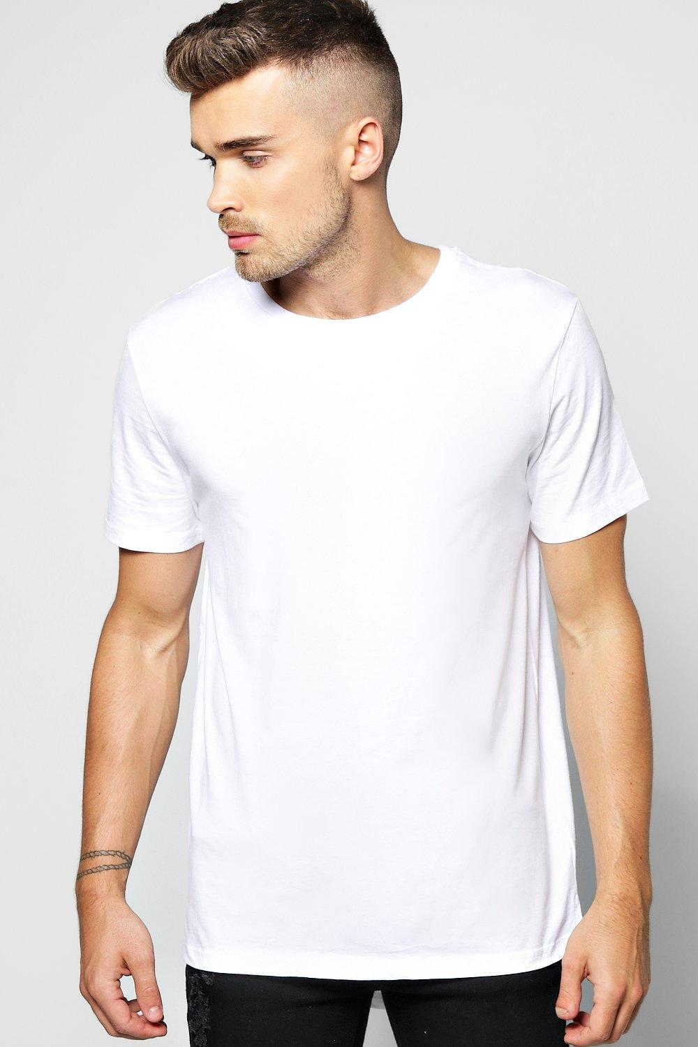 Longline T Shirt With Scoop Hem