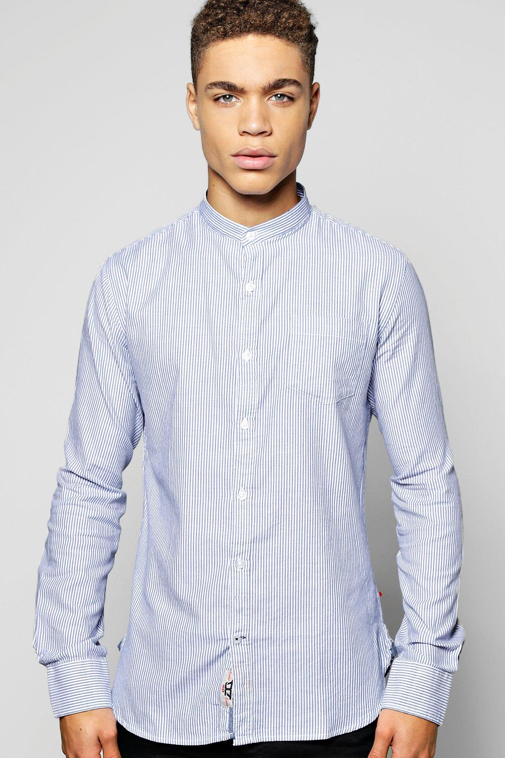 Long Sleeve Ticking Stripe Shirt