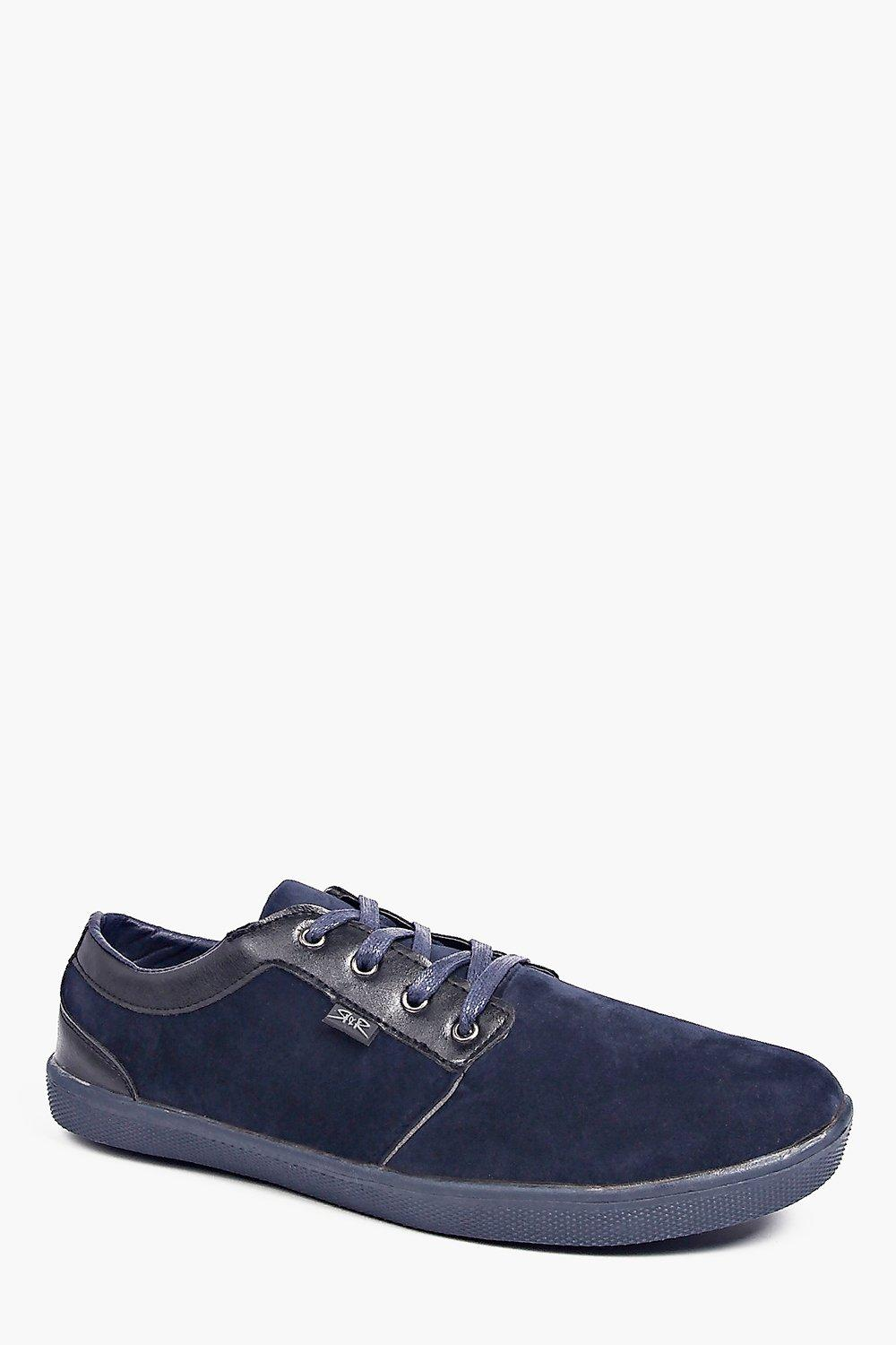 PU Trim Lace Up Plimsoll