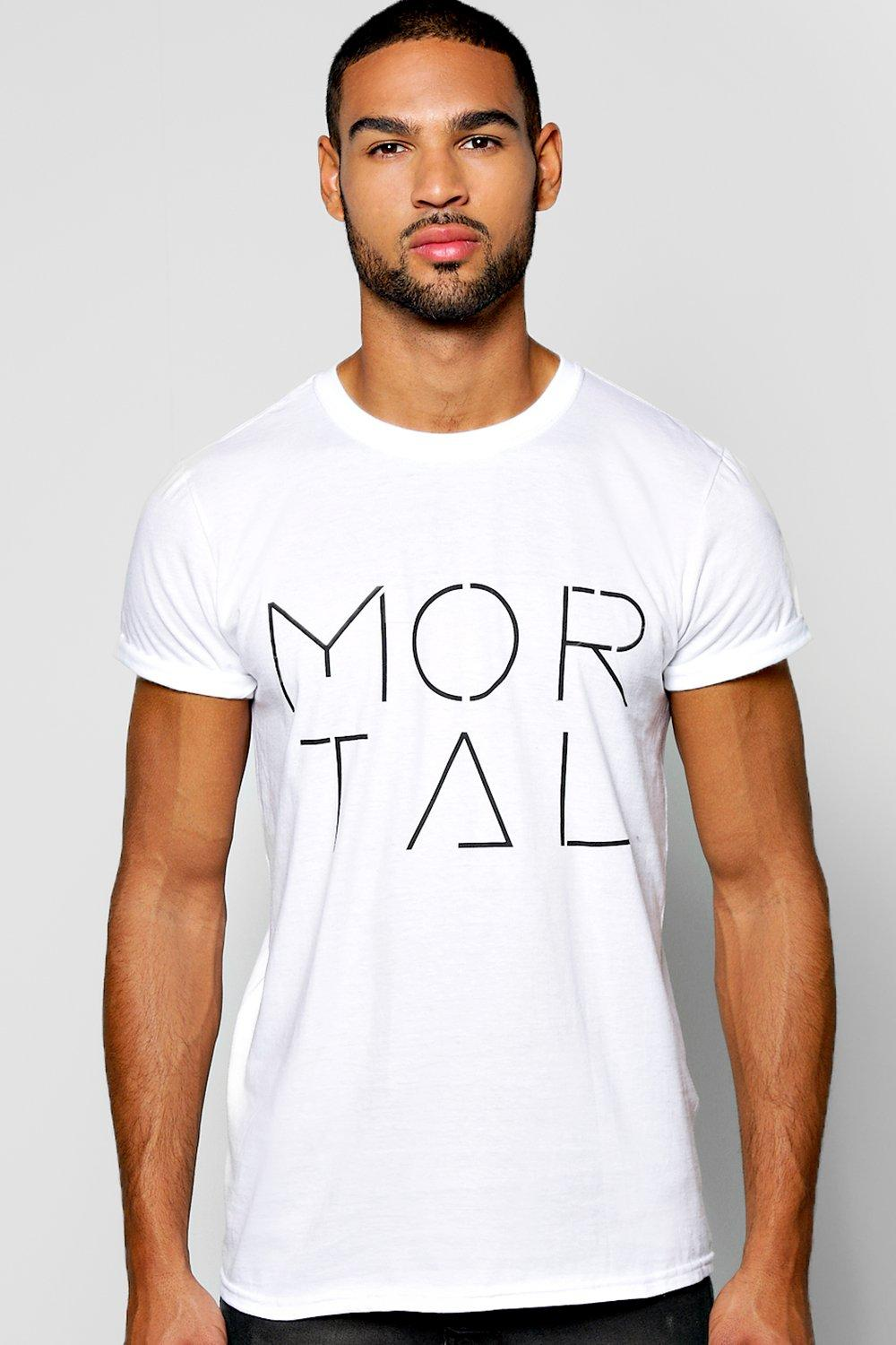 Mortal Slogan T Shirt