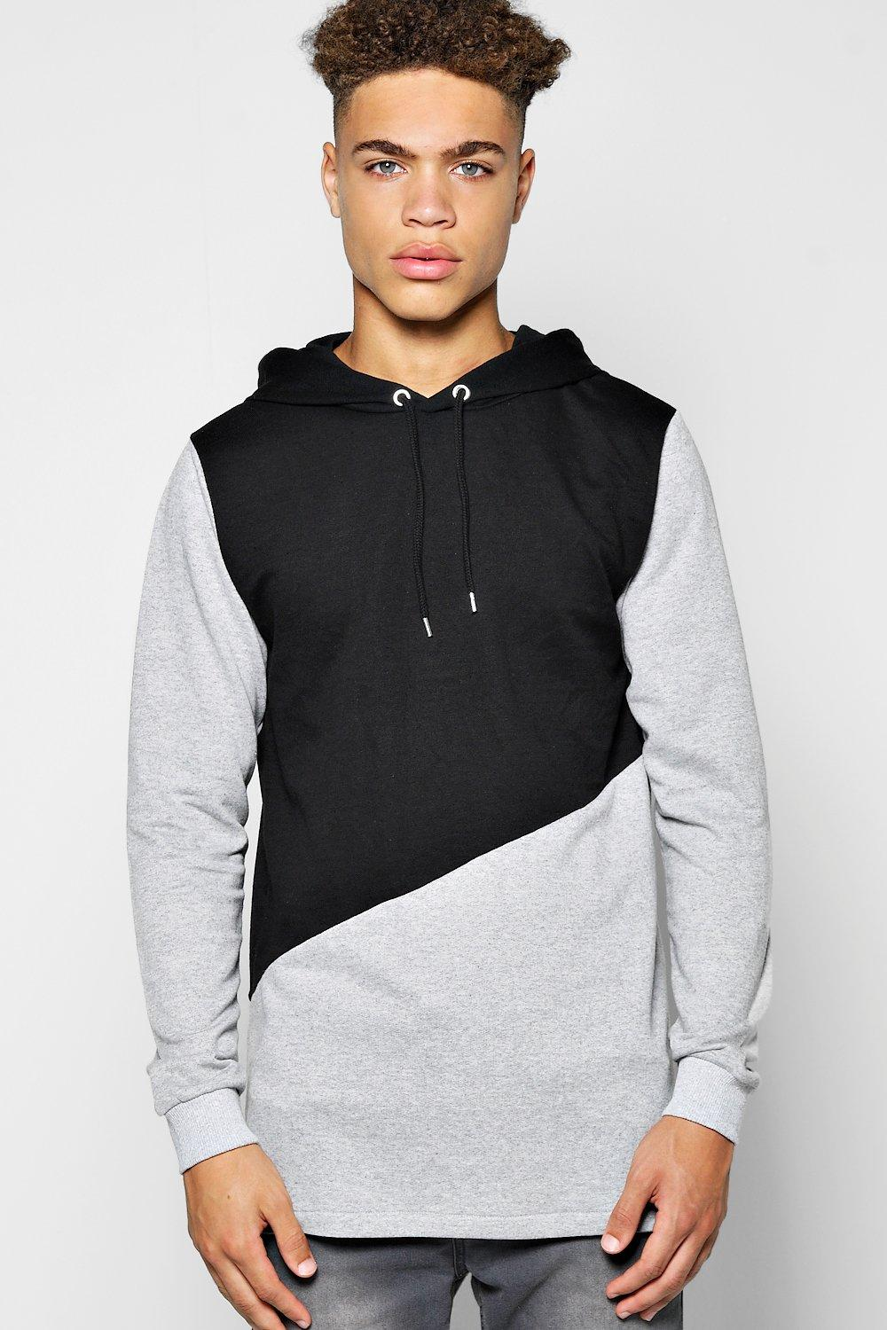 Longline Fishtail Spliced Hoody