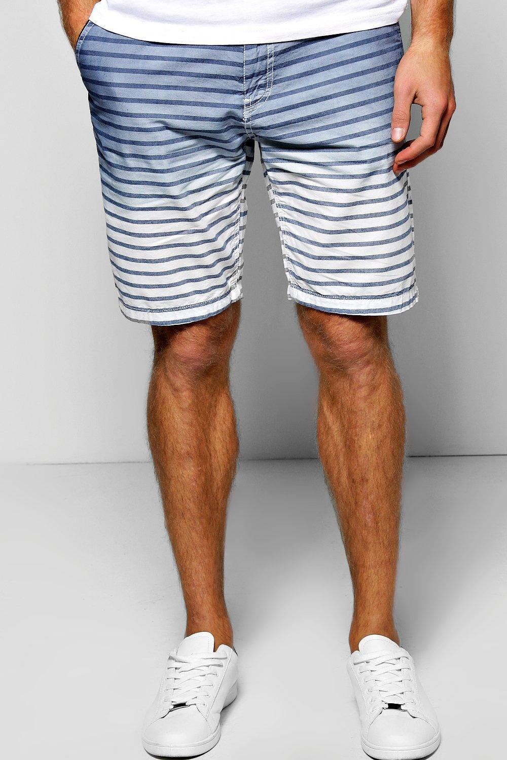 Stripe Ombre Shorts with Belt