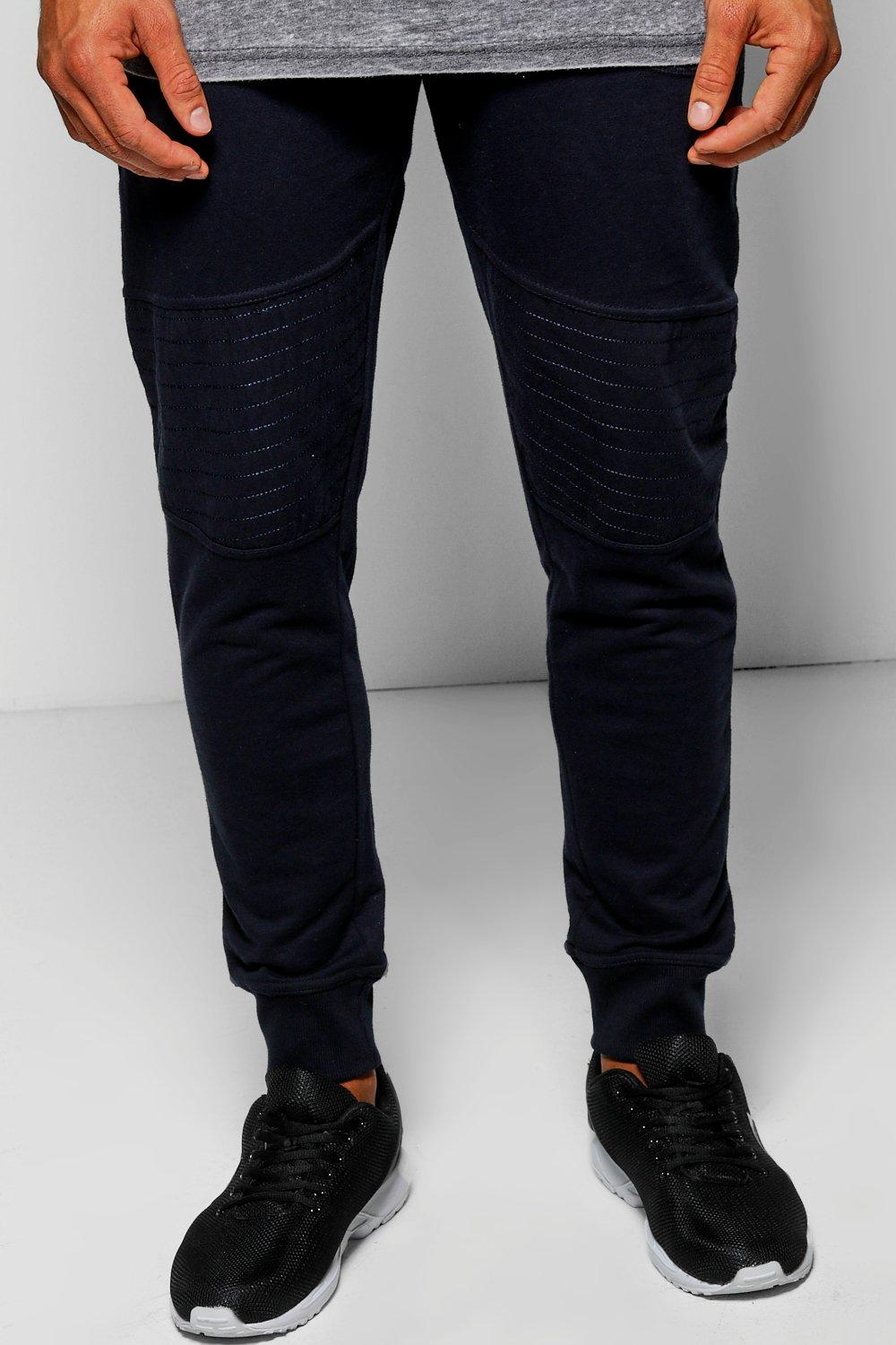 Panelled Cuffed Joggers With Zip Detailing