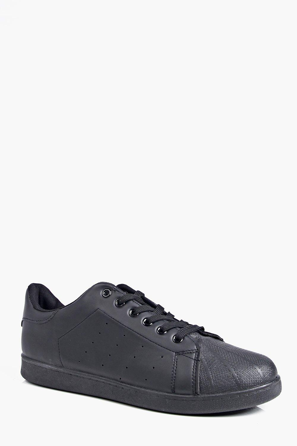 One Colour Lace Up Trainers