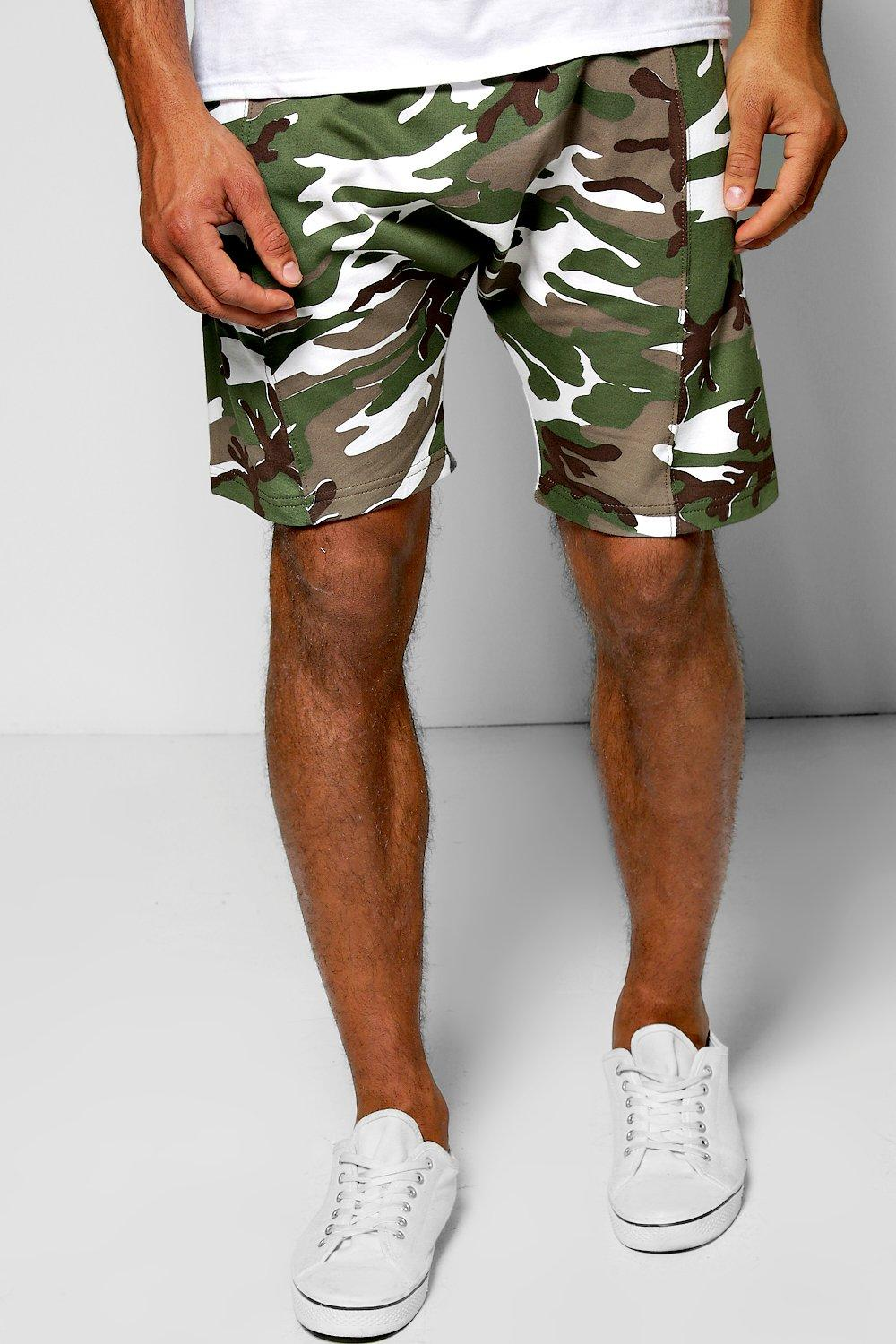 Camo Drop Crotch Shorts