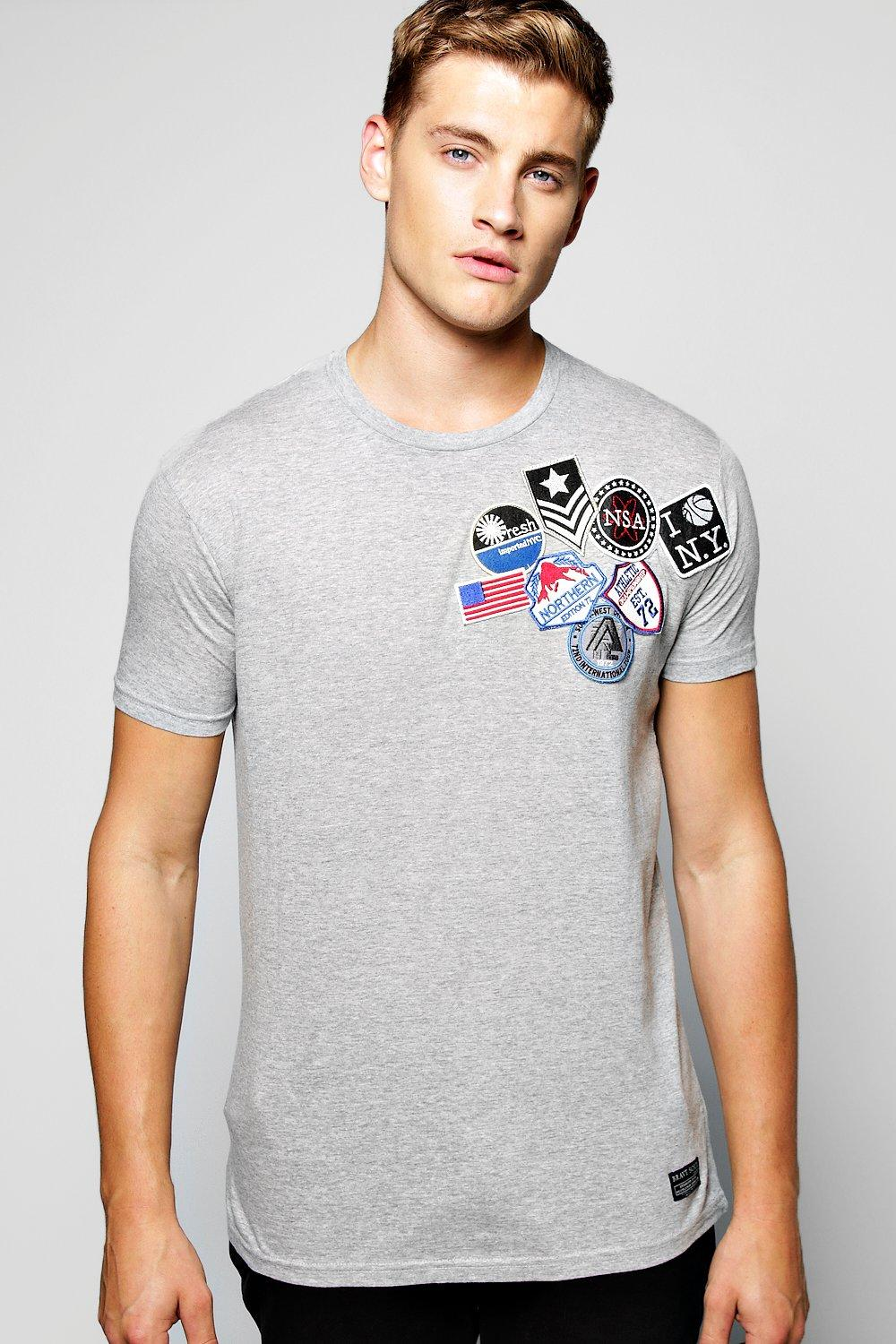 Embroidered Badge T Shirt