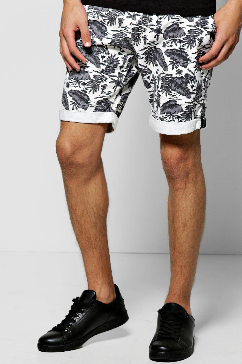 Botanical Print Chino Shorts