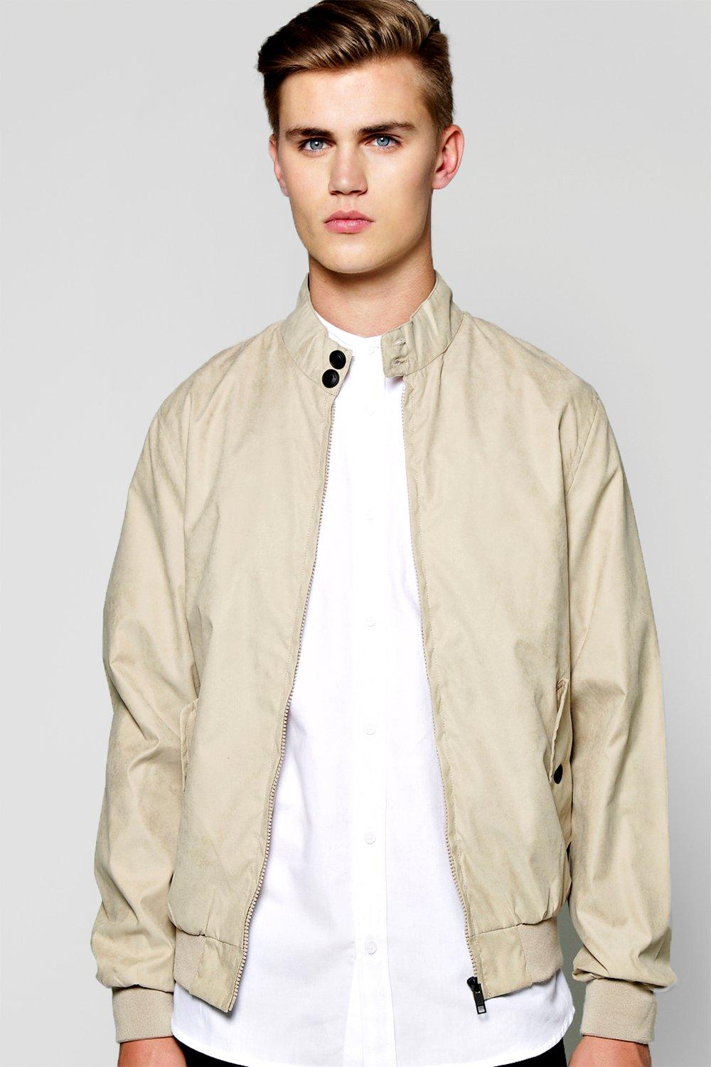 Nylon Twill Harrington Jacket