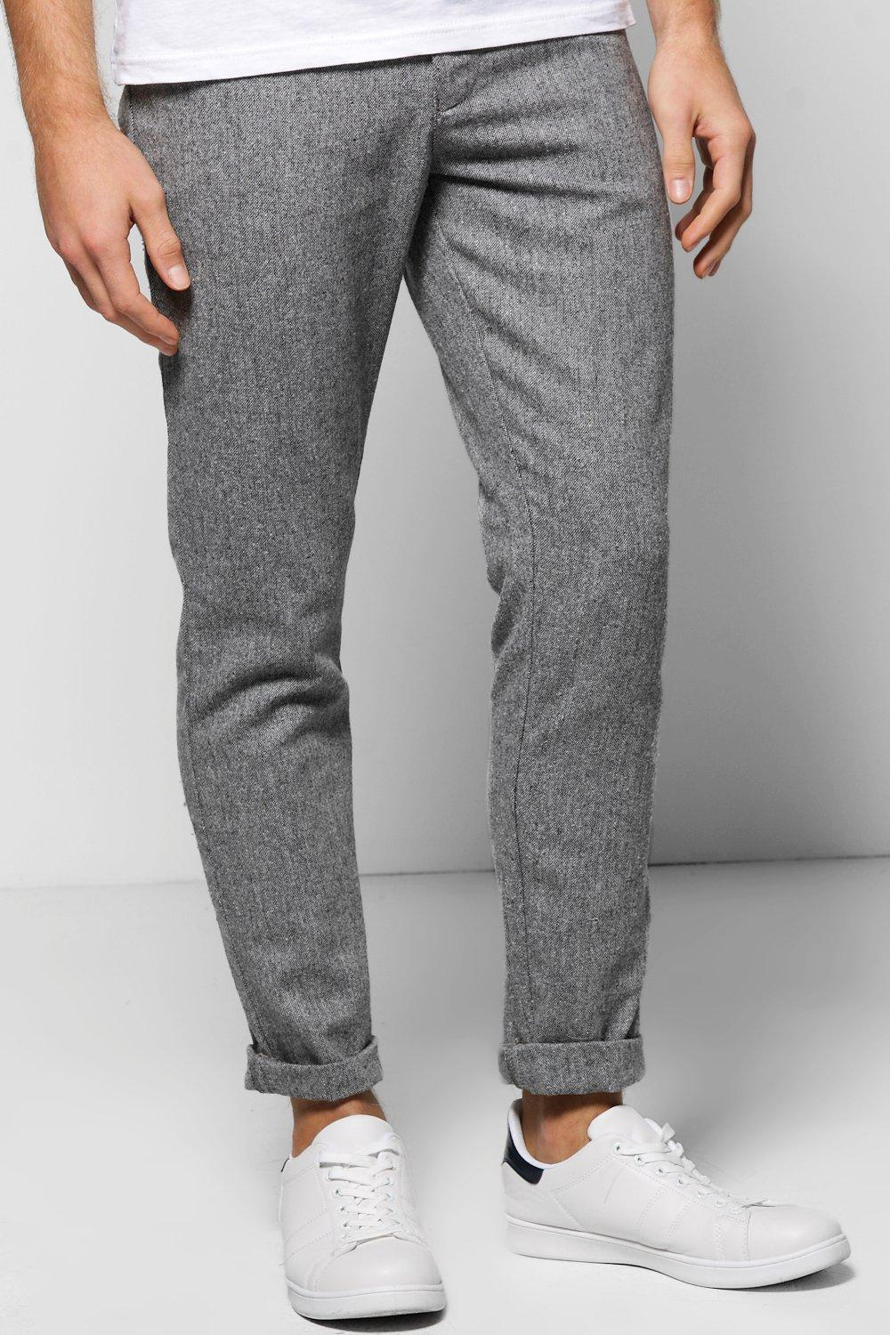 Skinny Fit Tweed Trousers