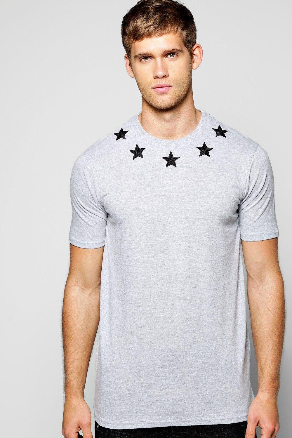 Star Embroidered T Shirt