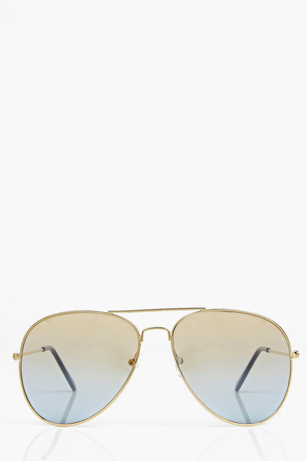 Ombre Effect Aviator Sunglasses
