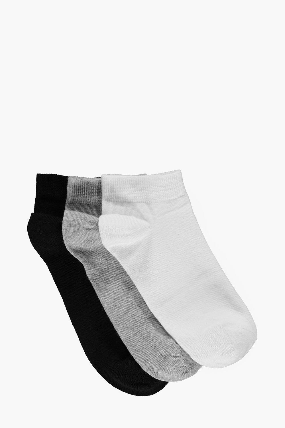3 Pack Plain Trainer Socks