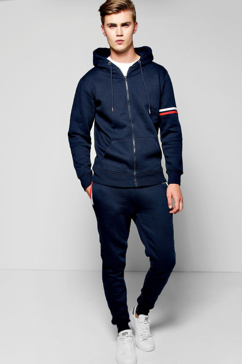 Stripe Detail Hooded Tracksuit
