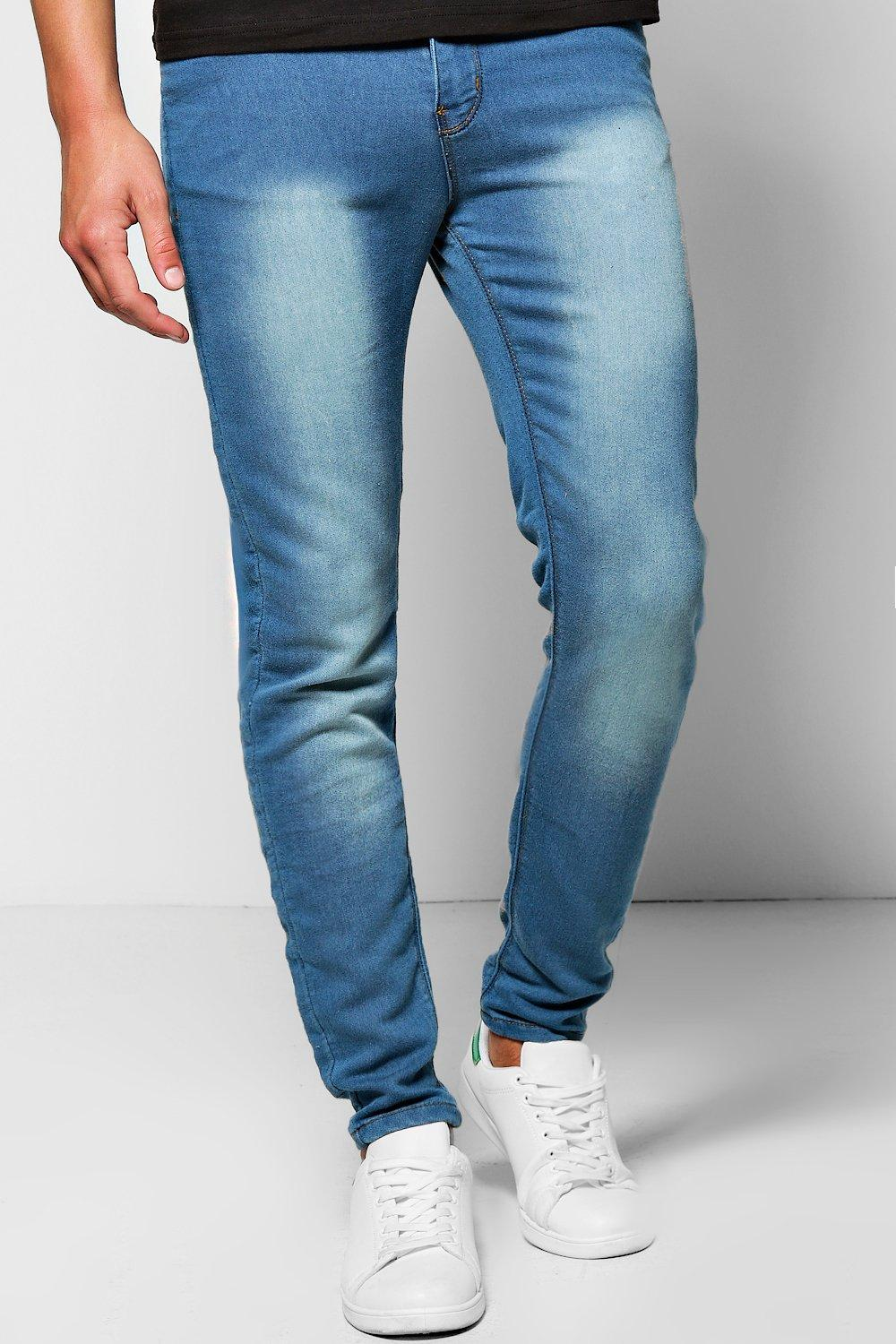 Skinny Fit Denim Jersey Jeans